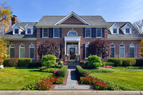 Luxury Brick Home w Columns