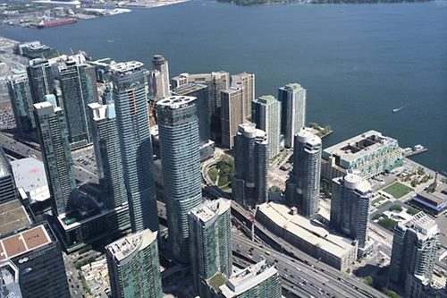 Downtown Toronto From CN Tower
